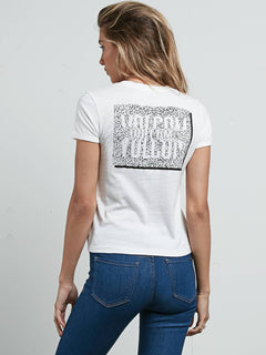 Don't Even Trip Tee In White, Back View