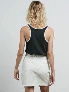 Cosmic Clash Tank In Black, Back View