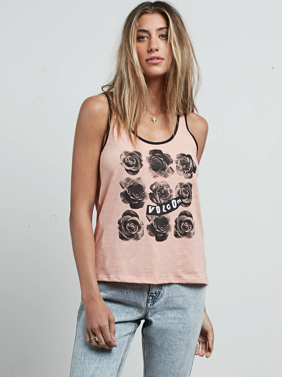 Cosmic Clash Tank In Mellow Rose, Front View