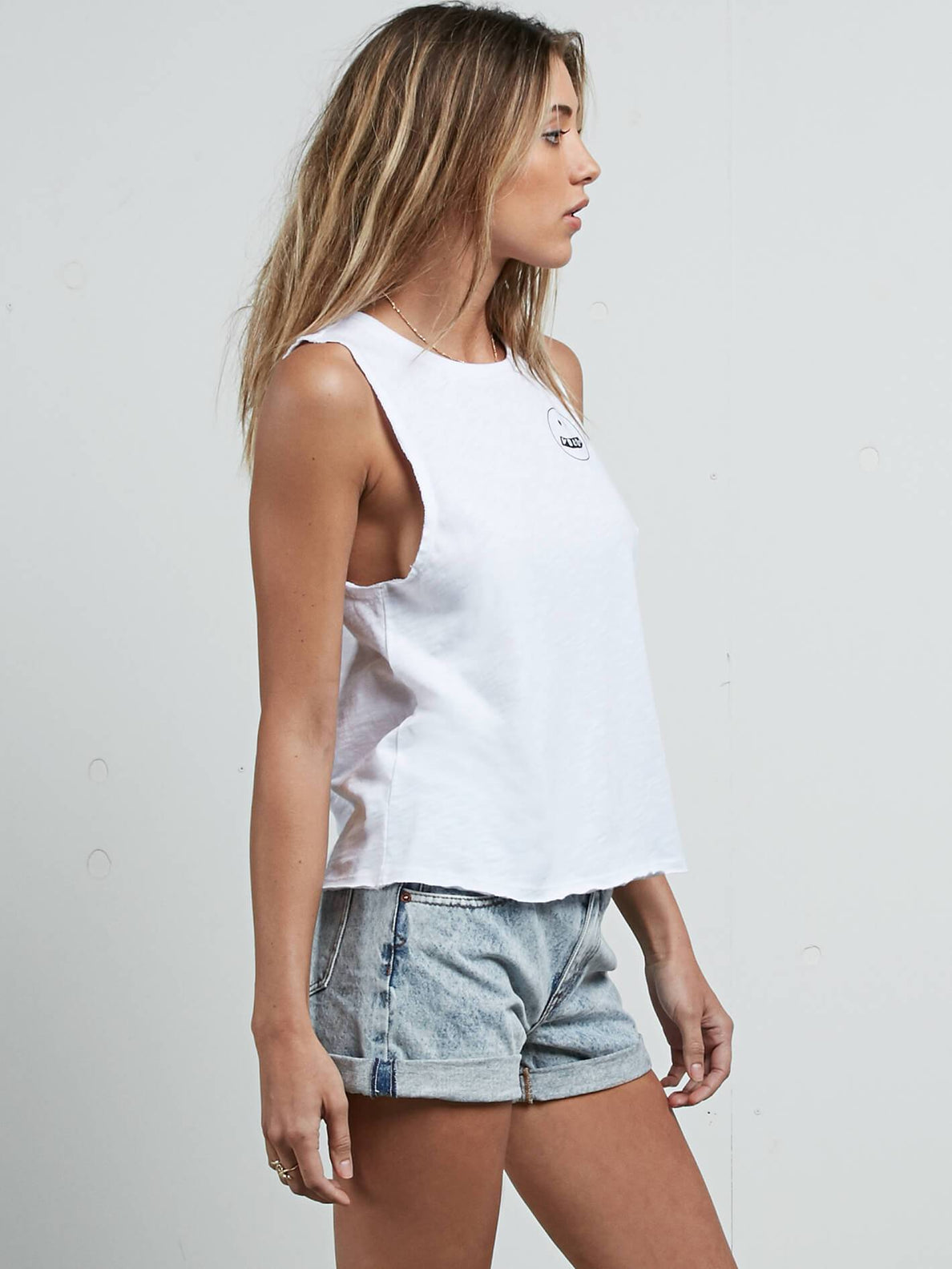 Pure Stoke Tank In White, Alternate View