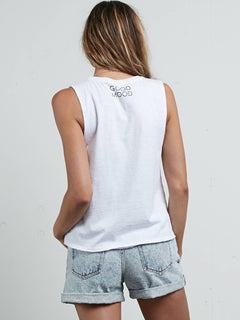 Pure Stoke Tank In White, Back View