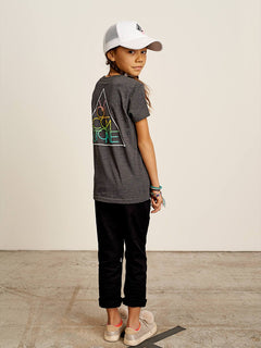Big Girls Stoneternally Tee In Heather Black, Back View