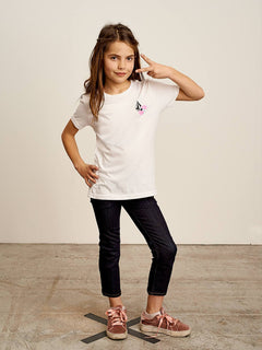 Big Girls Stoneternally Tee In White, Front View