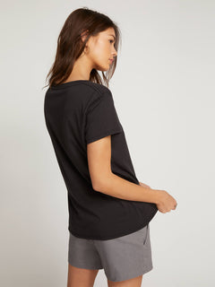Easy Babe Rad 2 Tee In Black, Back View