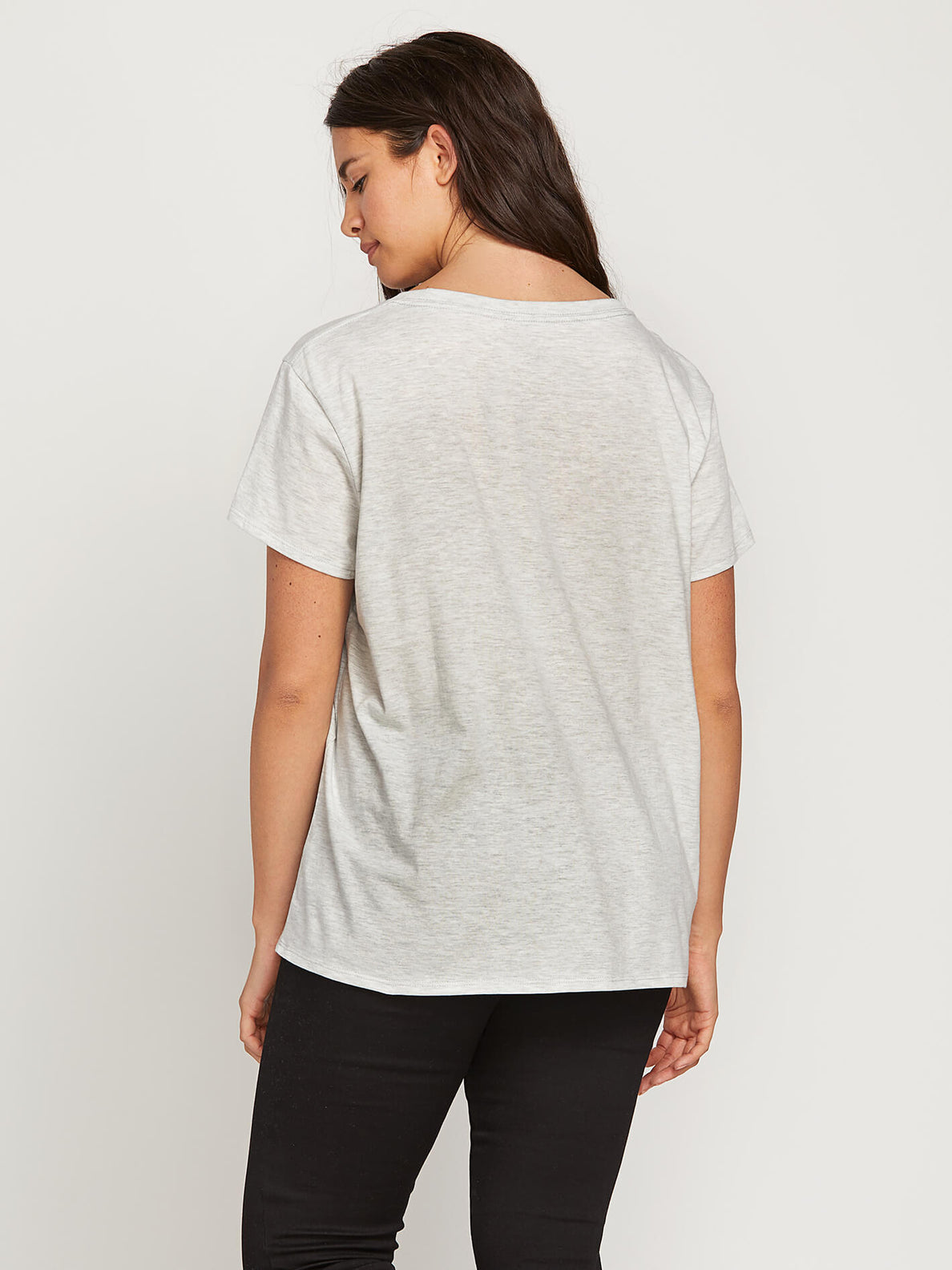 Easy Babe Rad 2 Tee In Light Grey, Back Extended Size View