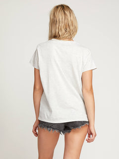 Easy Babe Rad 2 Tee In Light Grey, Back View