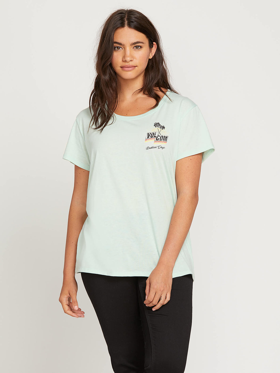 Easy Babe Rad 2 Tee In Mint, Front Extended Size View