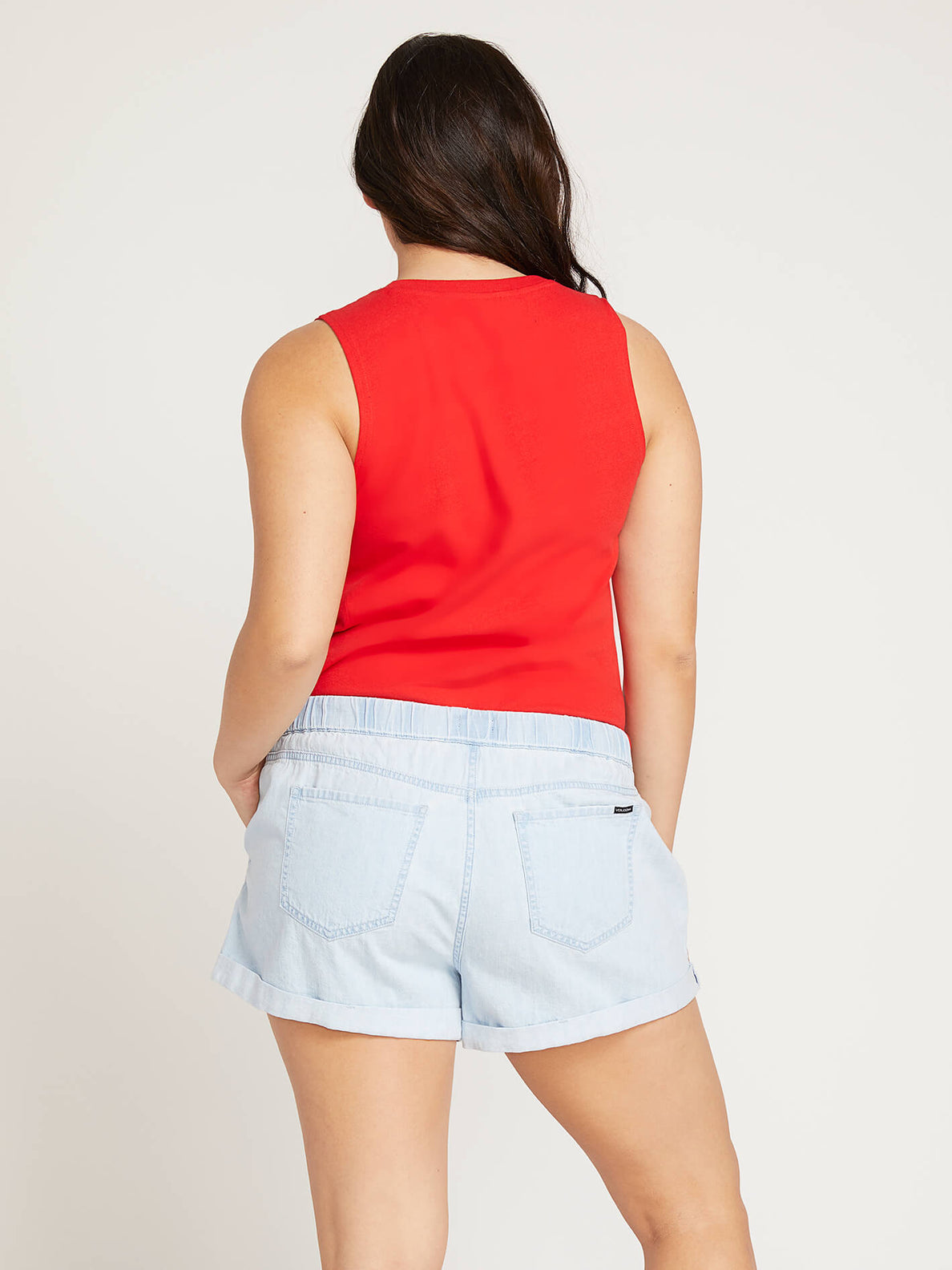 Volcom Love Tank In Red, Back Extended Size View