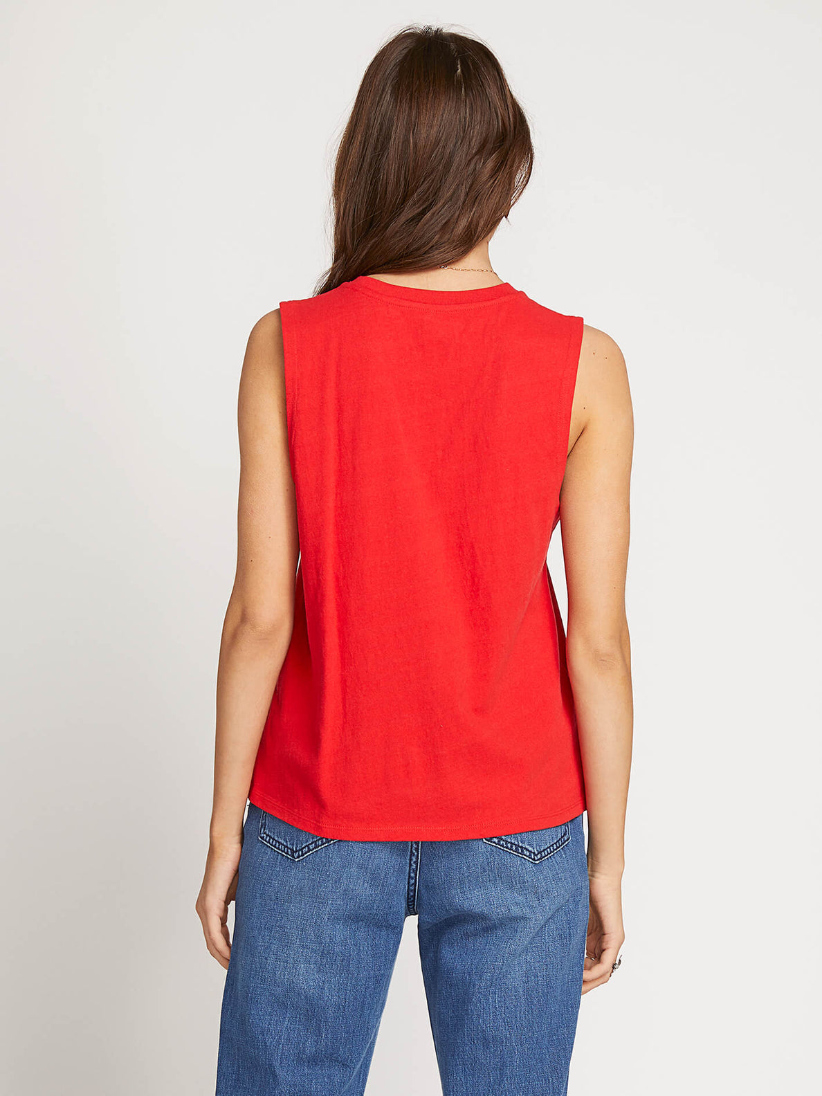Volcom Love Tank In Red, Back View