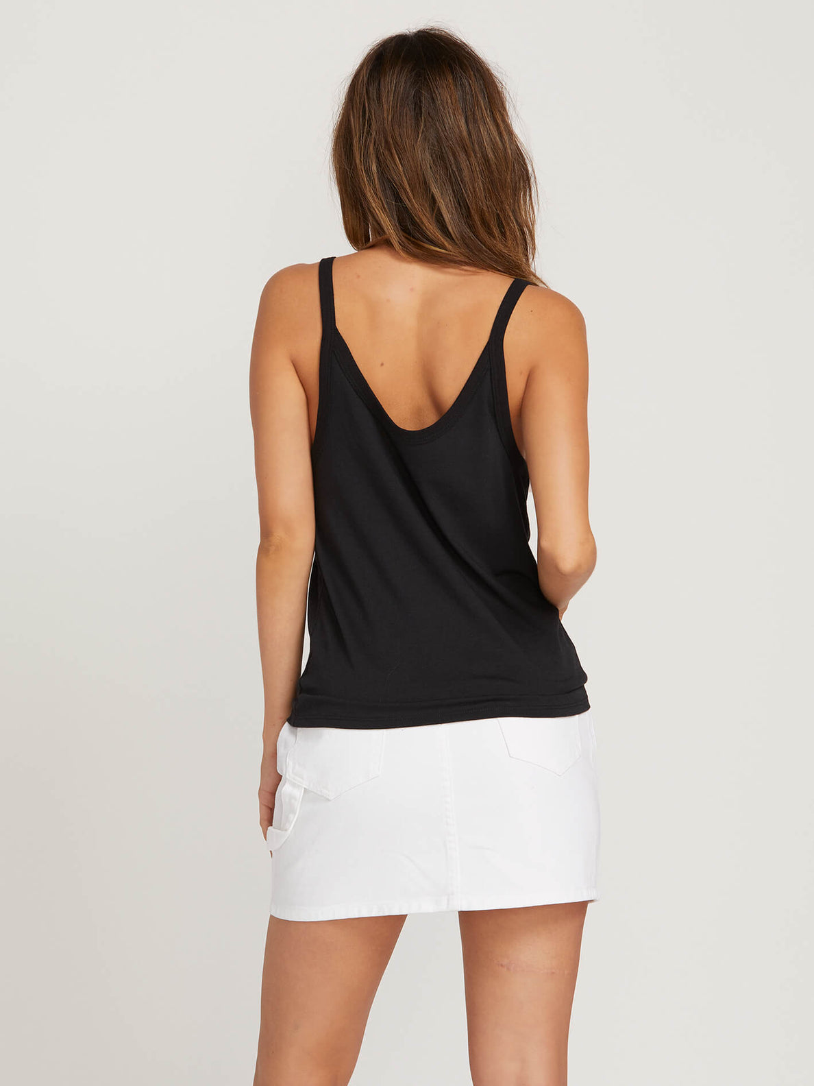 Vol Isle Tank In Black, Back View