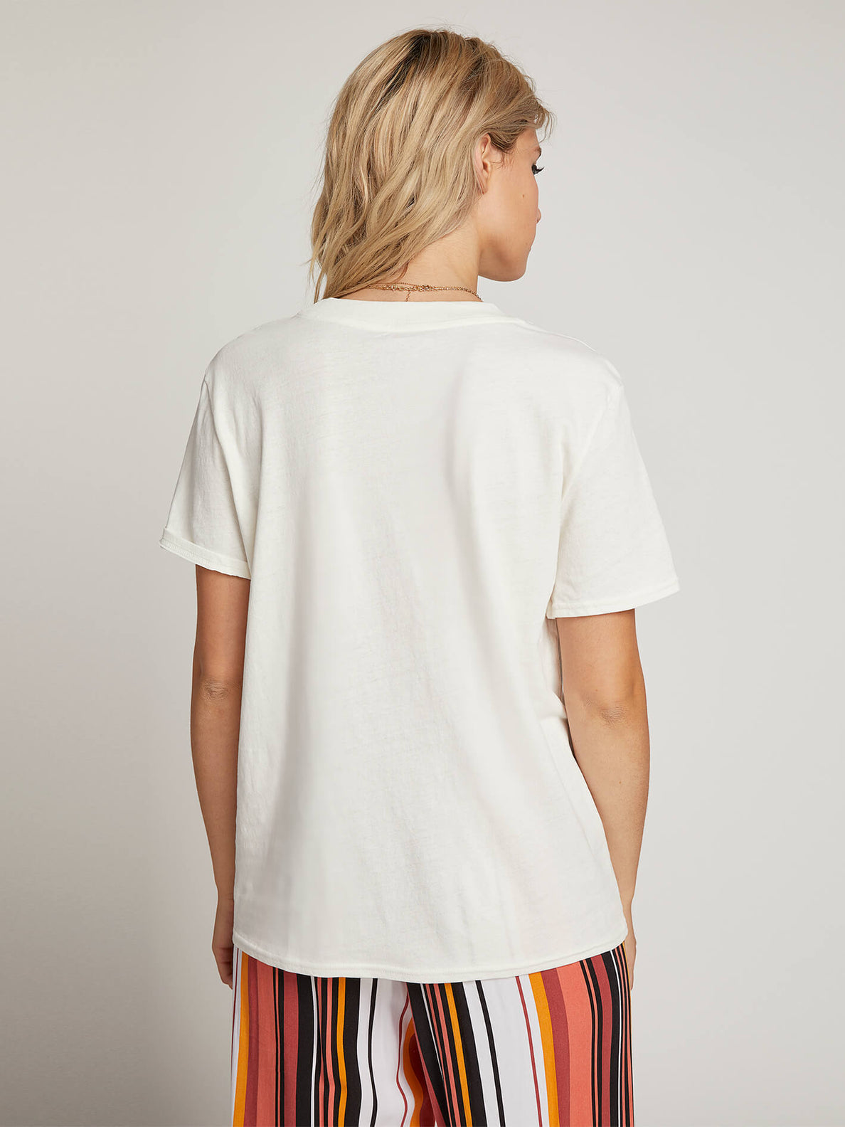 Ozzie Rainbow Tee In White, Back View