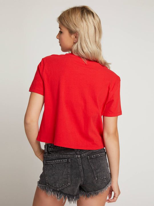 Stone Grown Tee In Red, Back View