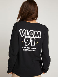 Vlcm 1991 Long Sleeve Tee In Black, Back View