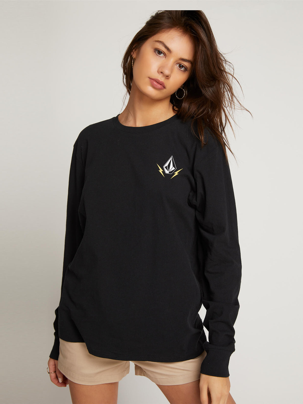 Vlcm 1991 Long Sleeve Tee In Black, Front View