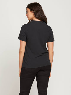 Stone Slick Tee In Black, Back Extended Size View
