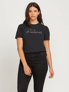 Stone Slick Tee In Black, Alternate Extended Size View