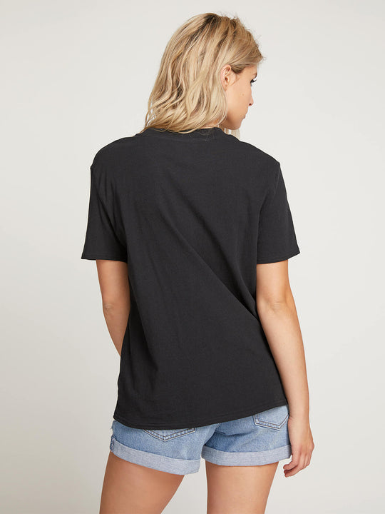 Stone Slick Tee In Black, Back View
