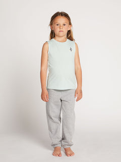 Little Girls Volcom Love Tank In Mint, Front View
