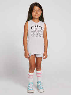 Little Girls Volcom Love Tank In Violet Ice, Front View