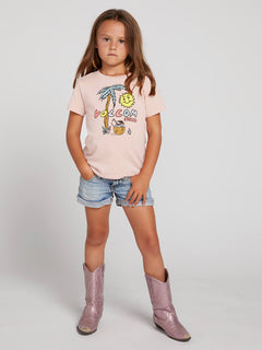 Little Girls Last Party Tee In Mellow Rose, Front View