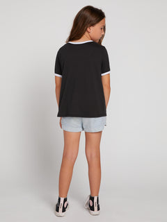 Big Girls Hey Slims Tee In Black Combo, Back View