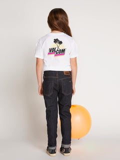 Big Girls Last Party Tee In White, Back View