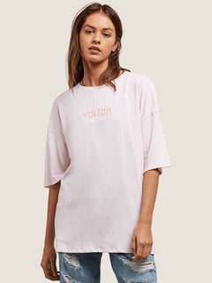 Stone Scraper Tee In Light Pink, Front View