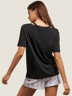 Steezy Breeze Tee In Black, Back View