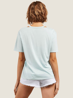 Steezy Breeze Tee In Mint, Back View