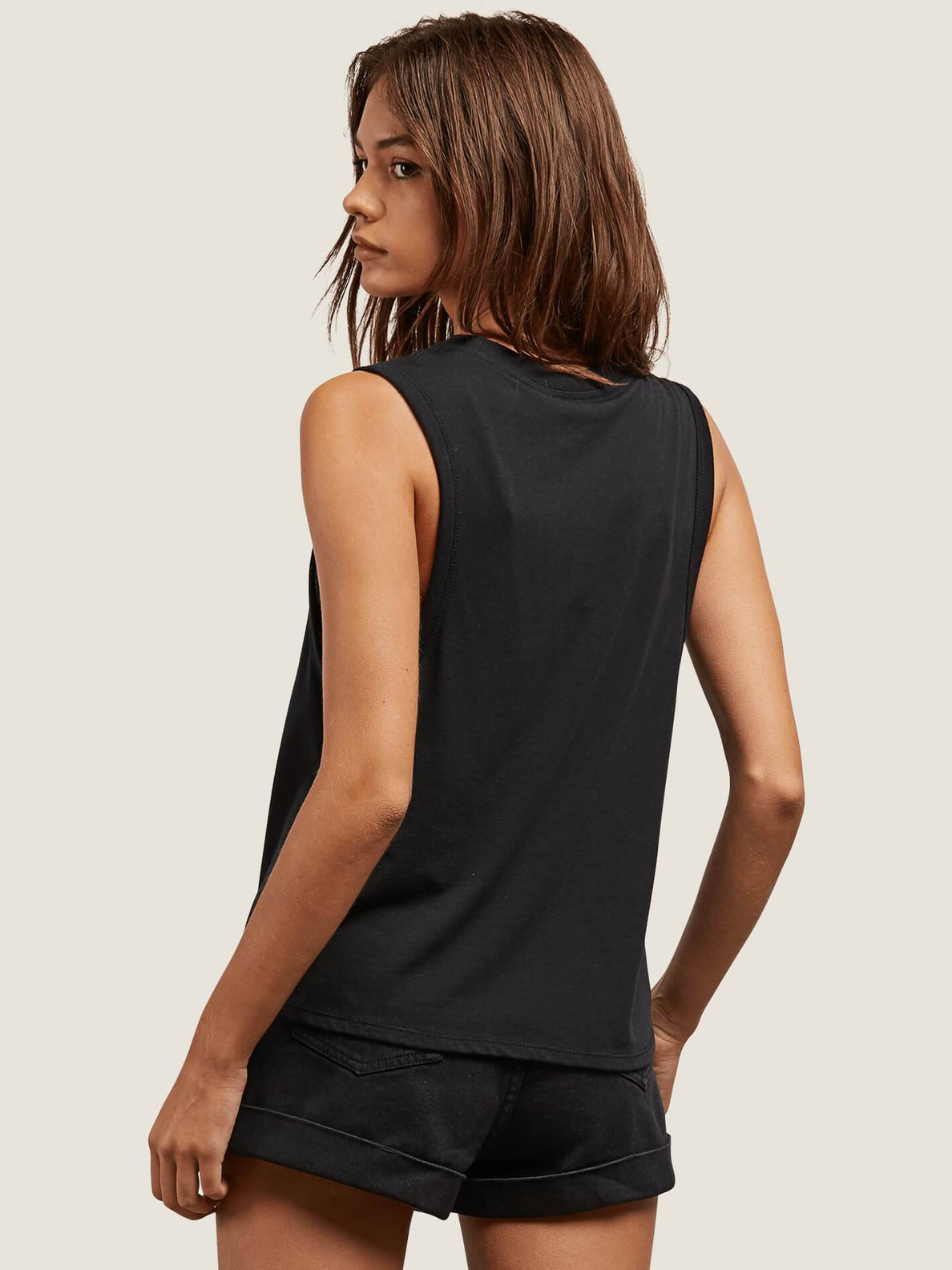 Where Are You Tank In Black, Back View