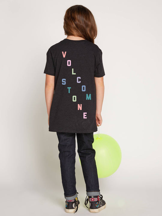 Big Girls Volcom Chatter Tee In Black Combo, Back View