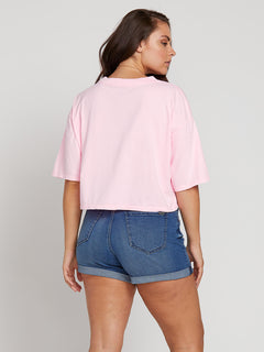 Neon And On Tee In Neon Pink, Back Extended Size View