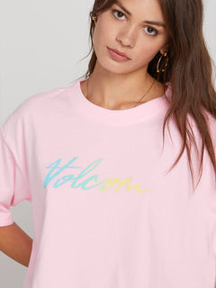 Neon And On Tee In Neon Pink, Fifth Alternate View