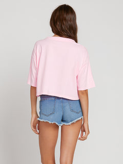 Neon And On Tee In Neon Pink, Back View