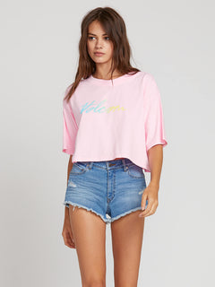 Neon And On Tee In Neon Pink, Front View