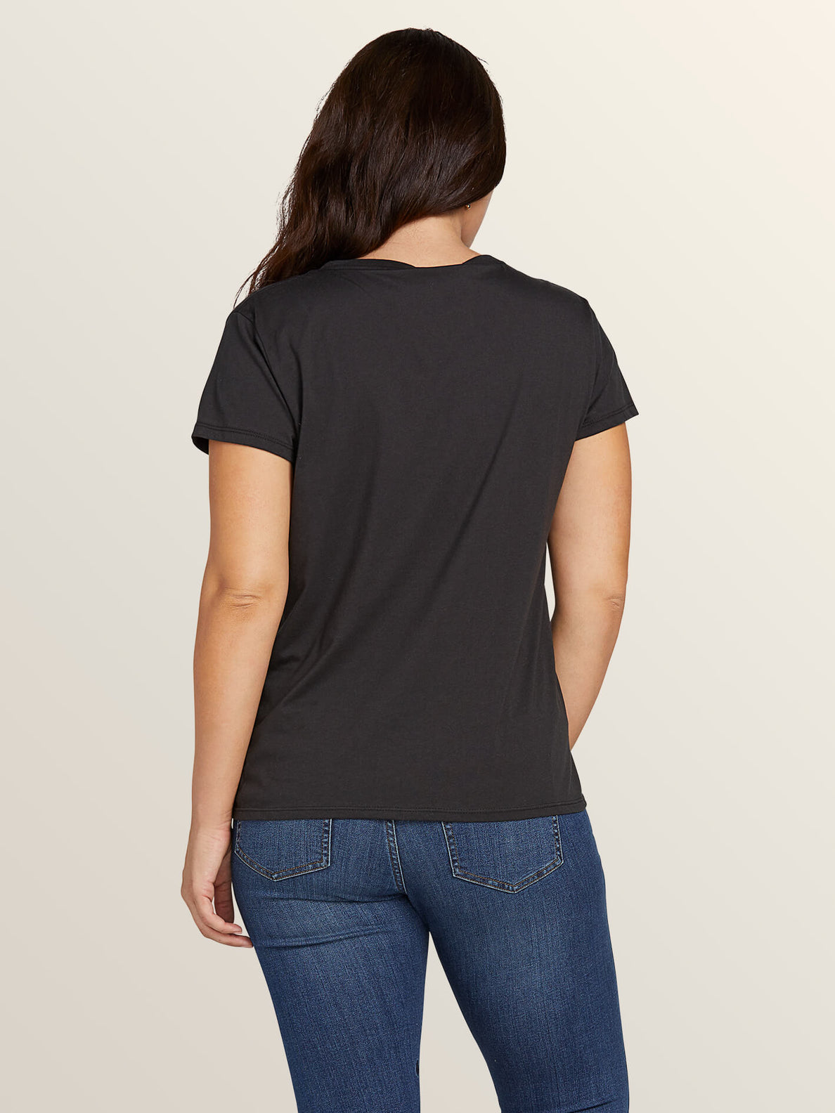 Easy Babe Rad 2 Tee In Black, Back Extended Size View