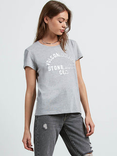 Easy Babe Rad 2 Tee In Heather Grey, Alternate View