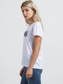 Easy Babe Rad 2 Tee In White, Alternate View