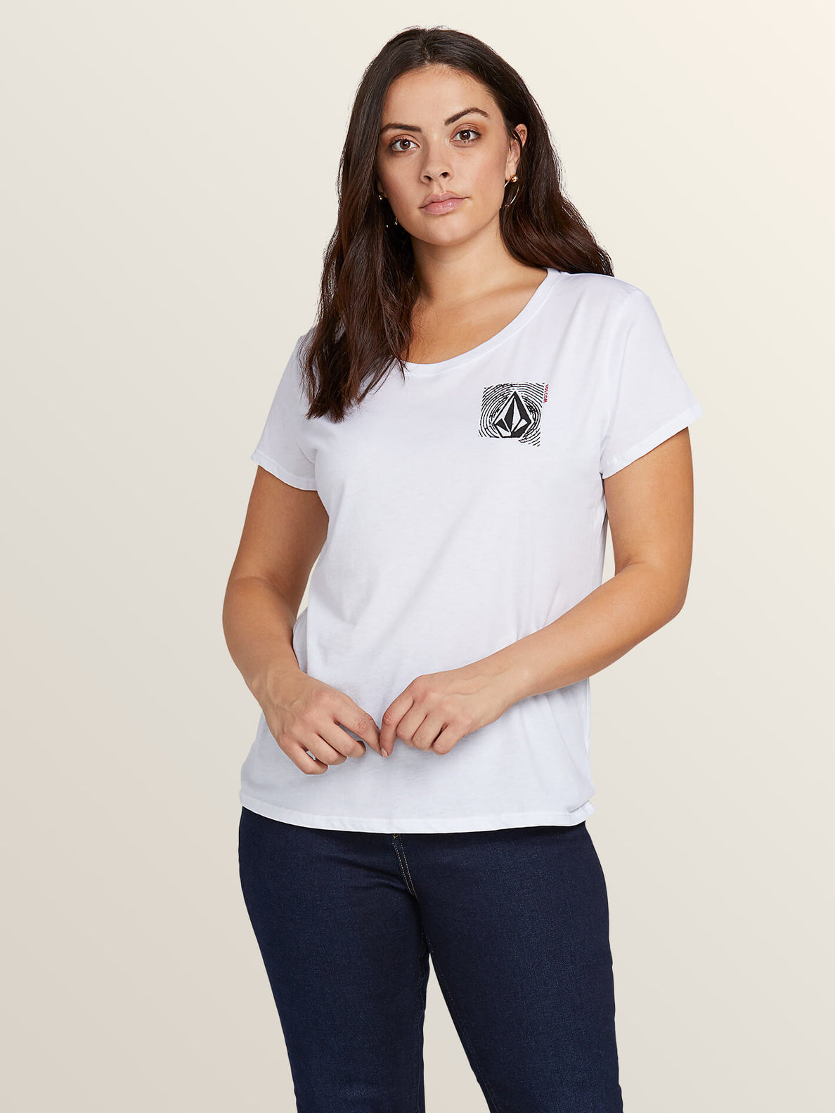 Easy Babe Rad 2 Tee In White, Front Extended Size View