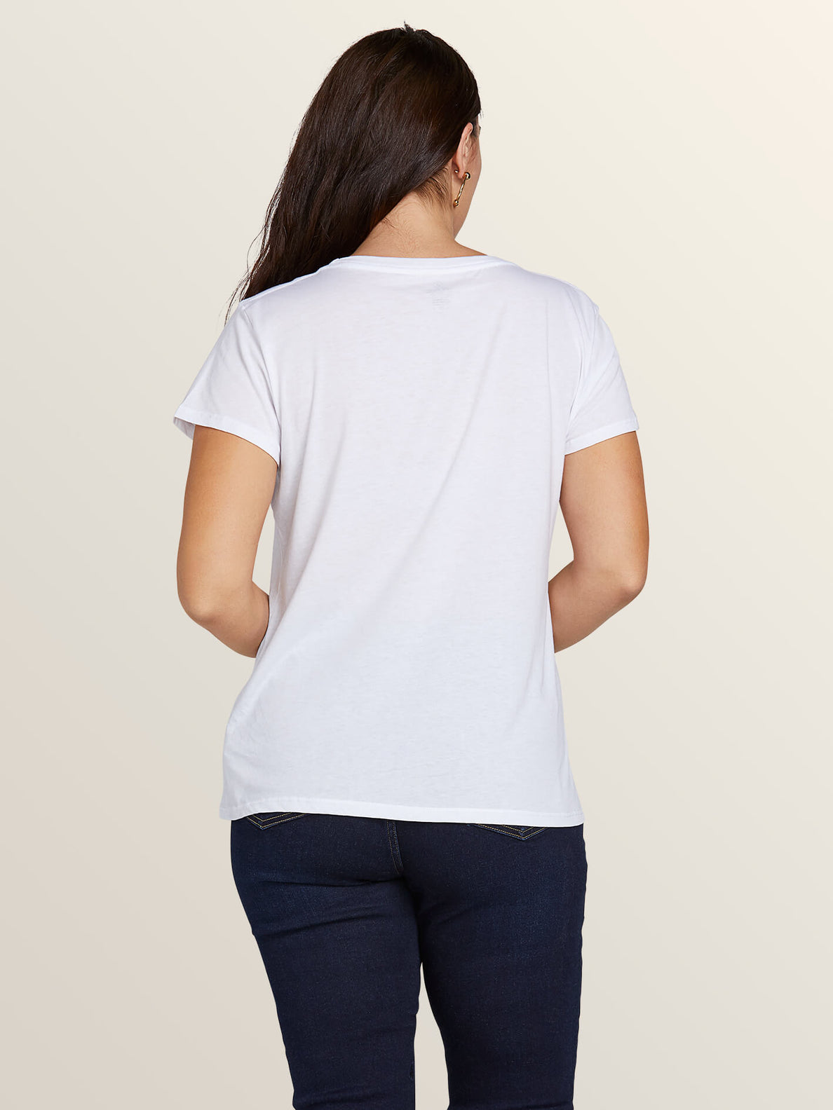 Easy Babe Rad 2 Tee In White, Back Extended Size View