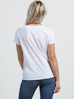 Easy Babe Rad 2 Tee In White, Back View