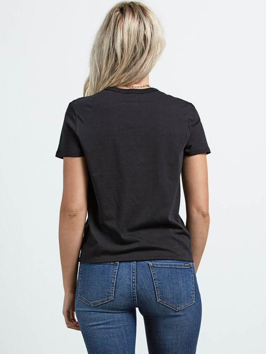 Skullactic Wave Tee In Black, Back View