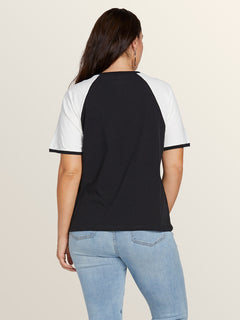 Stage 4 Ringer Tee In Black, Back Extended Size View