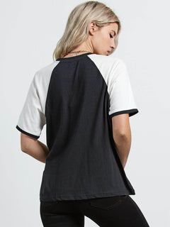 Stage 4 Ringer Tee In Black, Back View