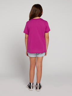 Big Girls Last Party Tee In Paradise Purple, Back View