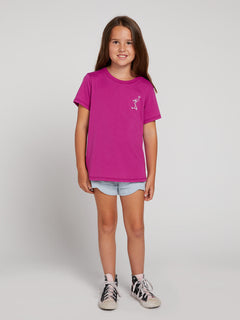 Big Girls Last Party Tee In Paradise Purple, Front View
