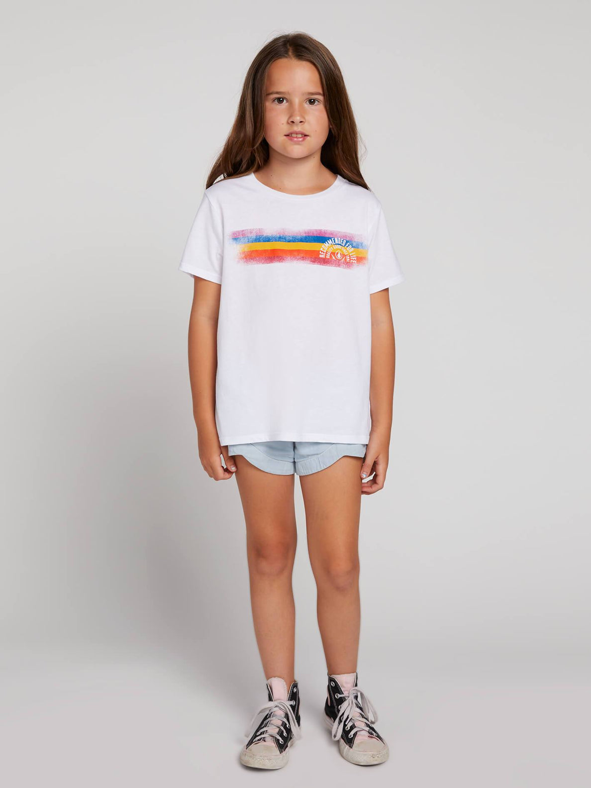 Big Girls Last Party Tee In White, Front View