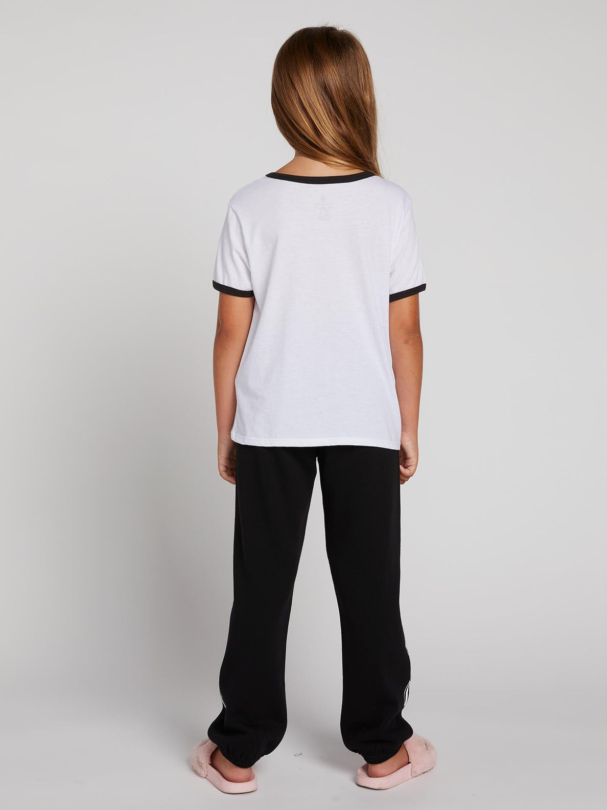 Big Girls Hey Slims Tee In White, Back View