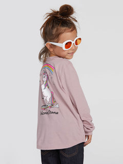 Little Girls Made From Stoke Long Sleeve - Faded Mauve (B35319L0_FMV) [6]