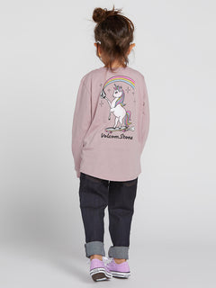 Little Girls Made From Stoke Long Sleeve - Faded Mauve (B35319L0_FMV) [B]